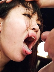 Nene Masaki Asian gets cum in mouth and in asshole after anal