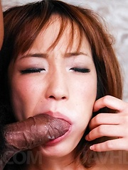 Sana Anzyu Asian is fingered in asshole and in dark cut by dudes