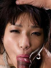 Asian girl bounded