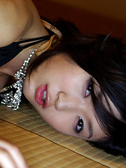 Noriko Kijima Asian with sexy lips and juicy bum is perfect model