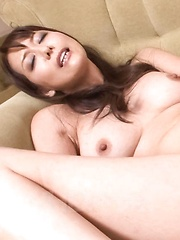 Akari Asagiri Asian licks dildos she fucks her fish taco with