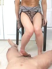 Ryuu Narushima Asian with hot haircut sucks dick till gets cum