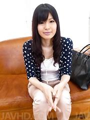 Nozomi Koizumi Asian has boobs caressed and vibrator on clitoris