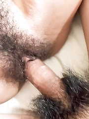 Asari Shirahama Asian has slit teased in panty before riding dick