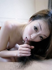Yuu Sakura Asian has big boobs fondled and gives blowjob to dude