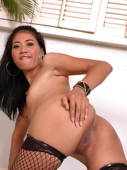 Superb Joy proudly strips to flash her yummy private assets