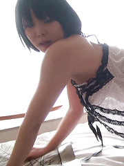 Ayane is exactly the Japanese girl you would have imagined secretly fooling around, especially after the way she caught your eye at the hotel reception desk.