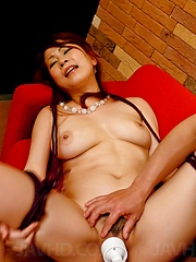 Yuki Aida Asian has cans fondled and gets dildo in teased nooky