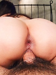 Nene Masaki Asian sucks dong and spreads labia after is fucked