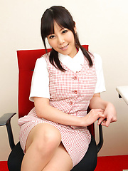 Maria Akamine Asian with sexy legs wants to take office suit off
