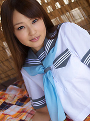 Misaki Nito Asian in sailor gal blouse shows hot butt in panty