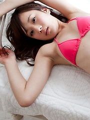 Kana Yuuki Asian in pink lingerie and heels is such hot kitten