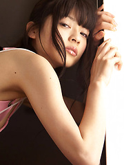 Yuuri Shiina Asian in pink thong and see through corset is spicy