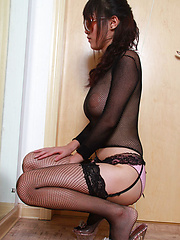 Sufei Asian with huge cans in see through outfit is very kinky
