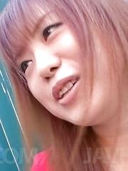 Noriko Kago Asian is so talented at licking and sucking phallus