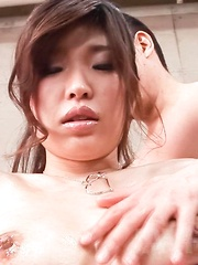 Ai Okada Asian is fucked well by phallus she sucks and licks well