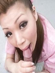 Ayumi Kobayashi Asian sucks thermometer and patient hard shlong
