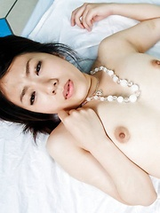 Yuri Hirayama Asian gets vibrator, cock and cum in her fuck hole