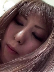 Rin Yazawa Asian sucks cock she gets in her wet and tight pussy