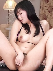 Nozomi Hatsuki Asian sucks balls and is fucked with vibrator