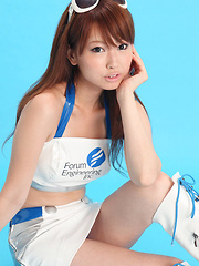 Chinatsu Sasaki Asian smiles and is in mood for playing with you