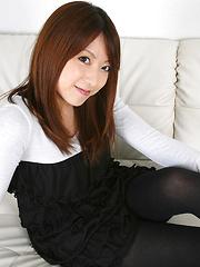 Kaori Yokoyama Asian with cute smile presents her new sexy dress