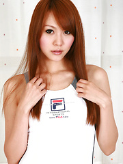 Saki Ueda Asian proudly shows her appetizing curves in lingerie