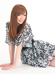 Yurie Asada Asian wants to know if she looks good in new dress