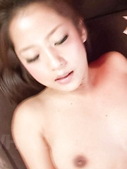 Satomi Suzuki Asian sucks boner and gets it in her tight beaver