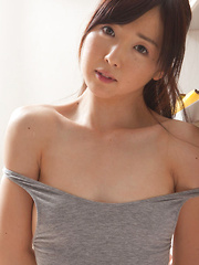 Mio Ayame Asian takes lingerie off and shows some of her curves