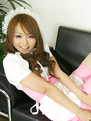 Momoka Narushima Asian in long sucks is very sexy house keeper