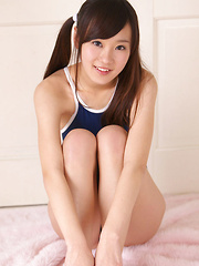 Kana Yuuki Asian in bath suit has some curves she has to expose