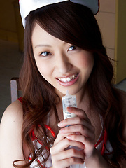 Cocoro Hirahara Asian is hot nurse who shows nooky in panty