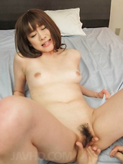 Maki Sarada Asian has asshole fucked with fingers and vibrators