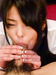 Eririka Katagiri Asian licks and sucks shlong and enjoys it a lot