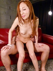 Erena Aihara Asian is fucked in mouth and roughly in fish taco