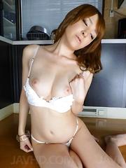 Hikaru Shiina Asian licks vibrator and enjoys it on her clitoris