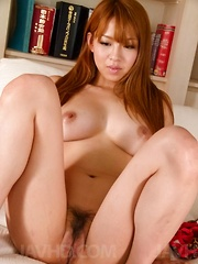 Ruru Kashiwagi Asian rides sucked boner with her fingered nooky