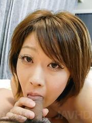 Haruka Sasano Asian has twat aroused with vibrator and screwed