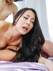 Ren Azumi Asian licks dicks she gets in pussy and asshole at once