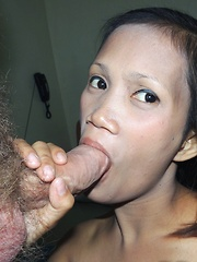Hairy Filipina pussy gets creamed by returning visitor