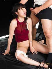 Japanese adult model Saionji Reo face fuck