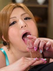 Nice handjob from Japanese girl Rena