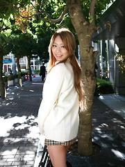 Cute Remika Uehara likes to be photographed