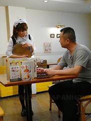 Yui Shimizu masturbates and gives a blowjob