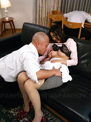 Horny housewife Yui Asao getting a good fuck.