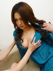 Arousing Yu Yamashita gets her cunt nailed
