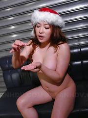 Busty hot Mirai Haneda gets in threesome sex