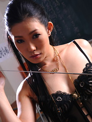 Arousing Yui Komine poses in her lingerie