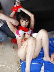 Teacher Maho Sawai gets tied up and gagged